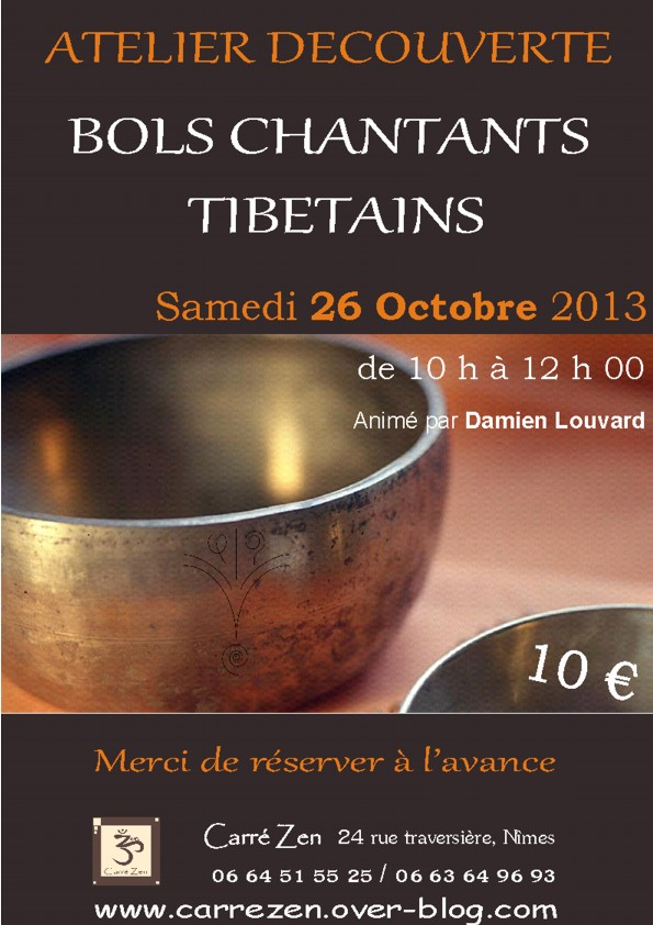 Bols Tibetains octobre