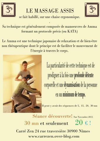 massage assis affiche-CARRE ZEN